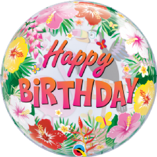 Happy Birthday Tropical Party! Bubble Balloon